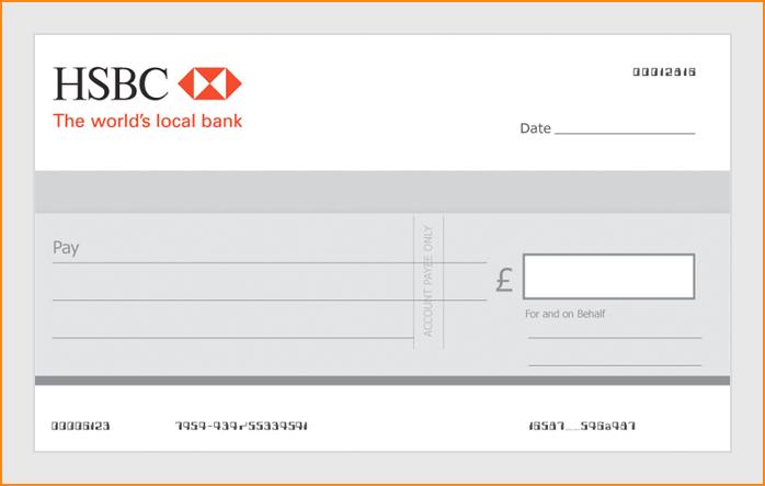 write a cheque hsbc bank