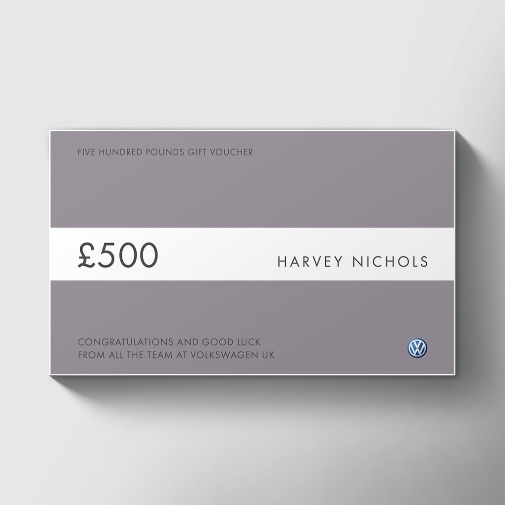 big-cheques-harvey-nichols-volkswagen-gift-voucher