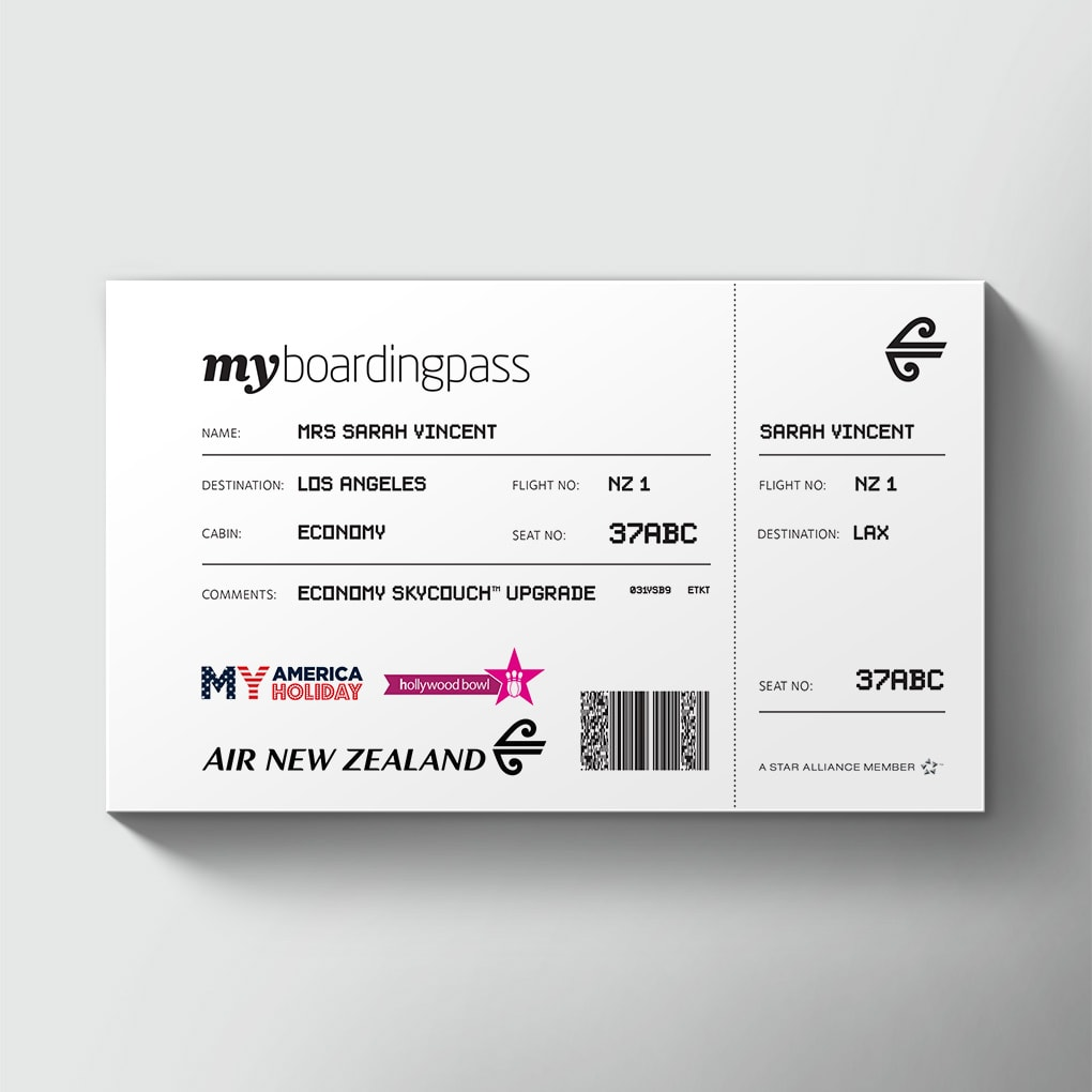 Large Airline Tickets Order Giant Novelty Printed Airline Tickets