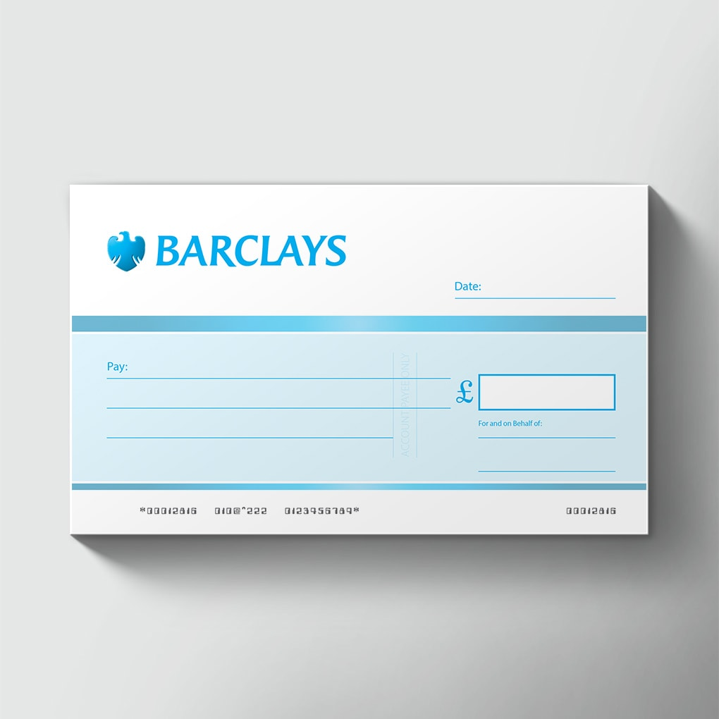 order large single use bank presentation cheques rh bigcheques com Barclays Bank USA Barclays Investment Bank