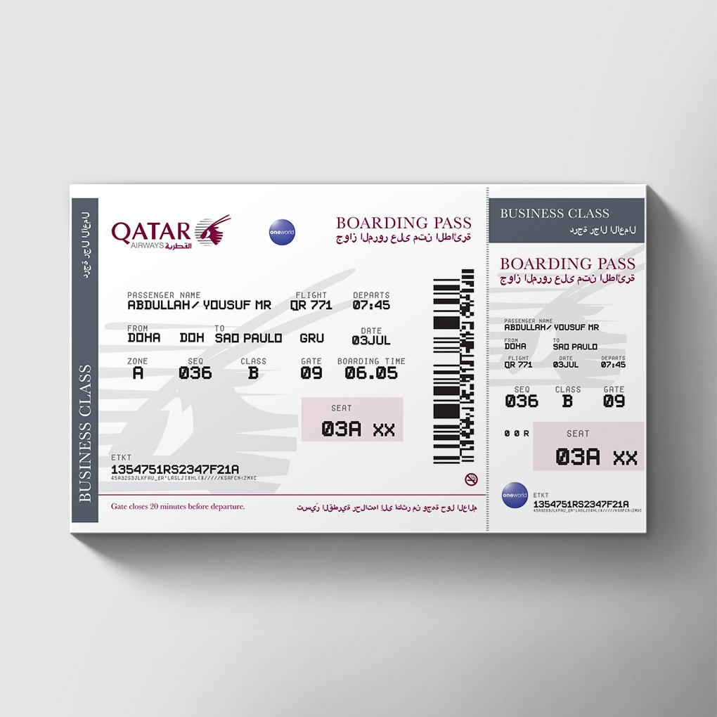 large airline tickets order giant novelty printed airline