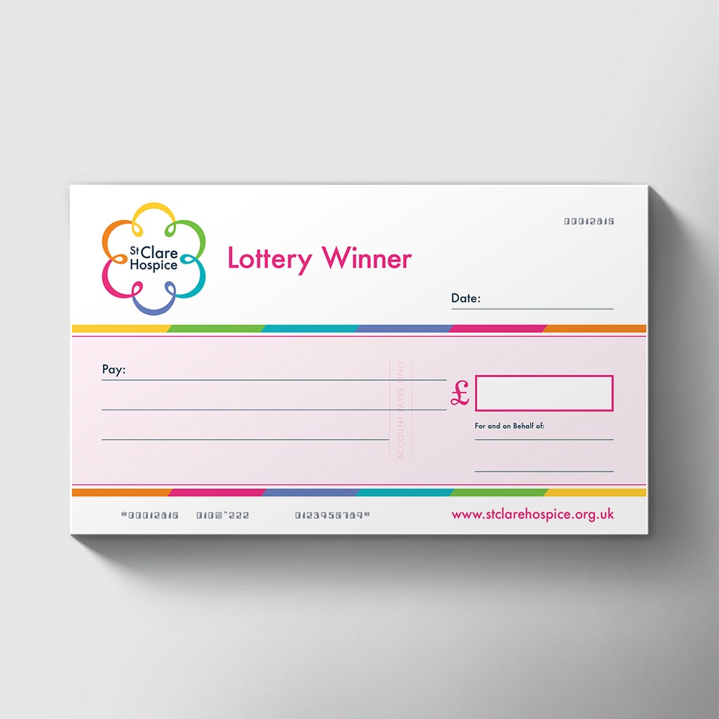 Single Use Lottery Presentation Cheques Novelty Cheques For Lotteries